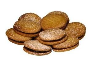 Biscotti sablé alla ganache fondente