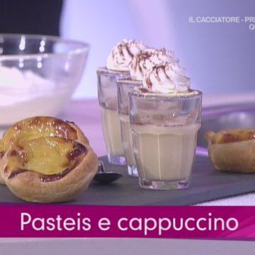 I pastéis de nata e cappuccino a Detto Fatto