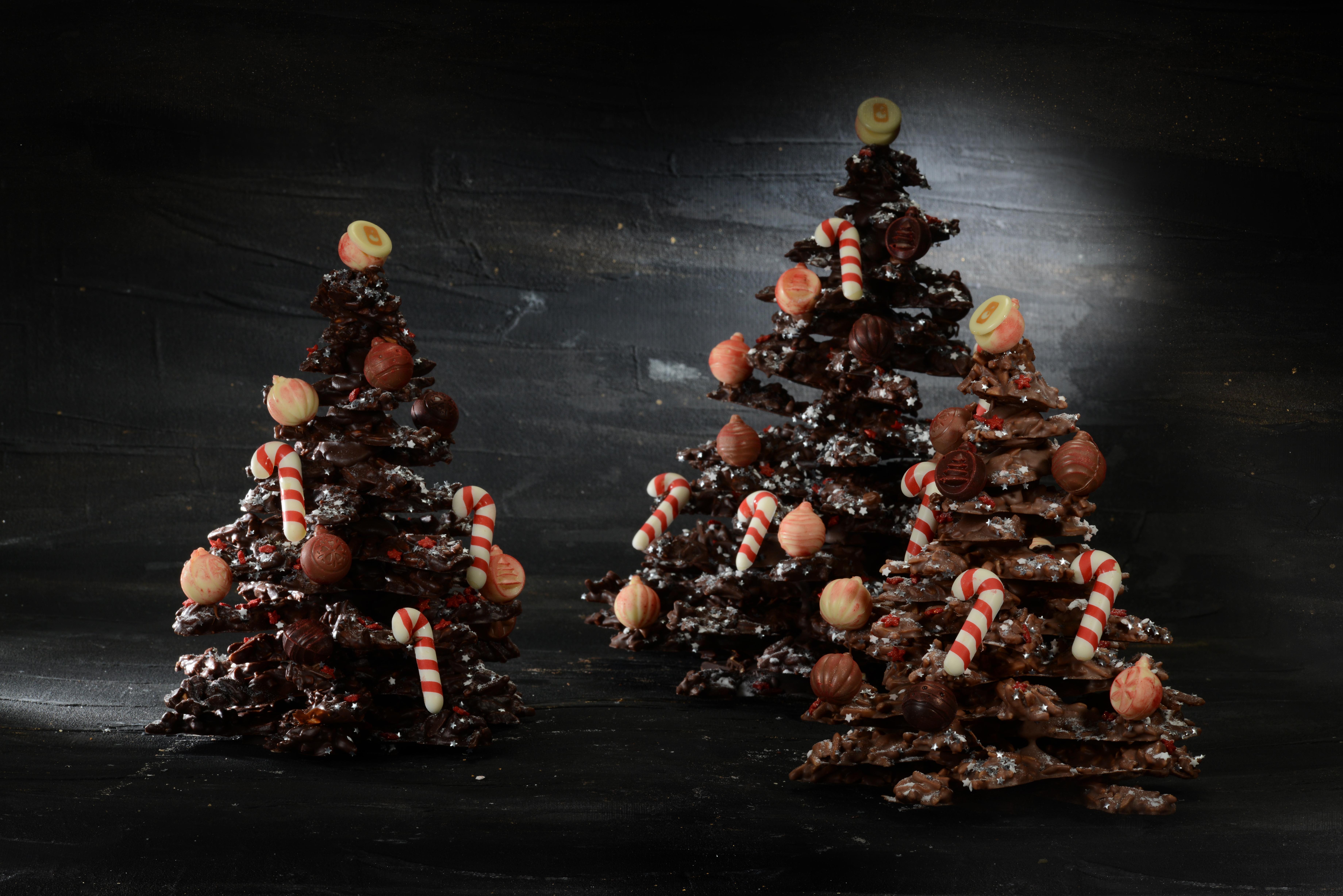 Alberi di Natale di cioccolato
