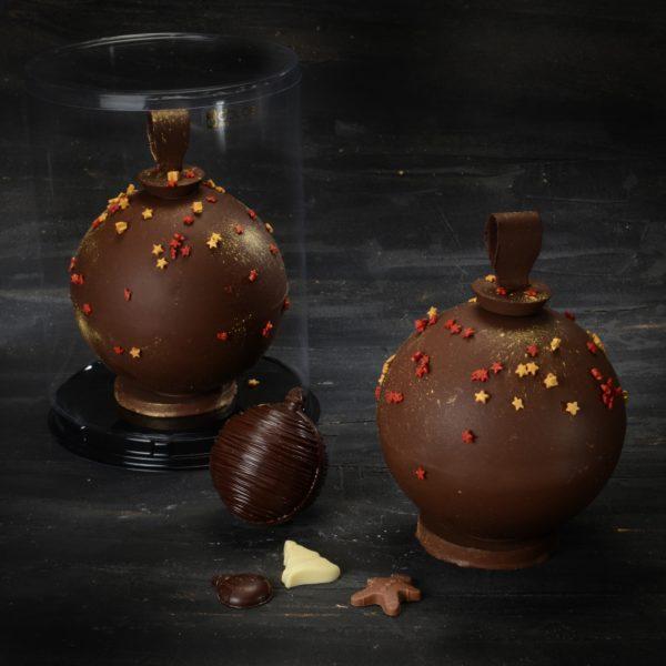 Palla di Natale di cioccolato