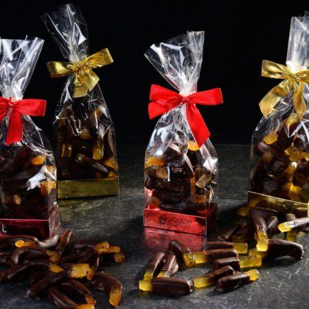 Scorzette ricoperte di cioccolato