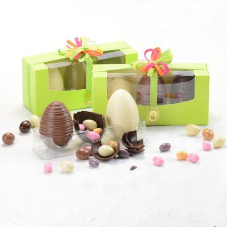 Tris ovette di cioccolato