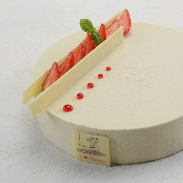 torta fraise basilic